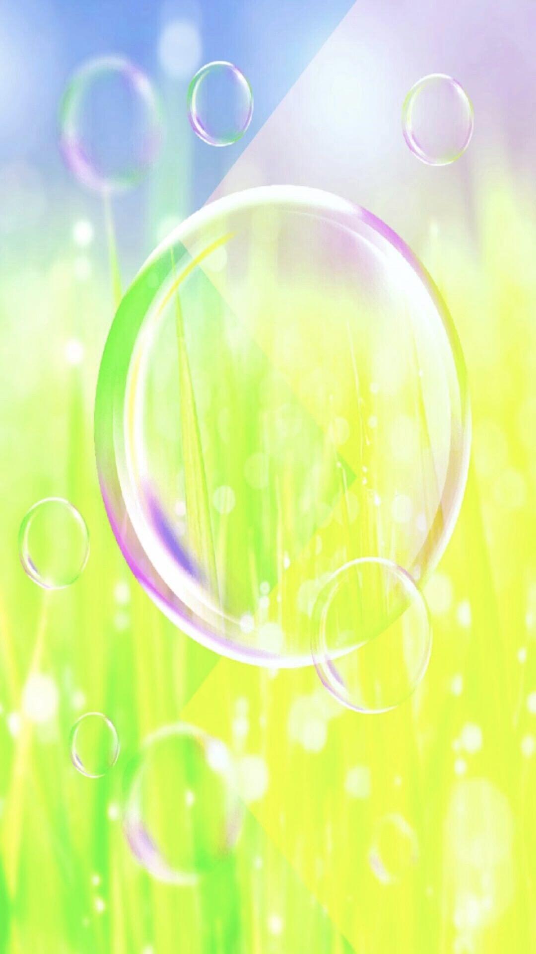 Soap Bubble Grass Wallpapersc Smartphone