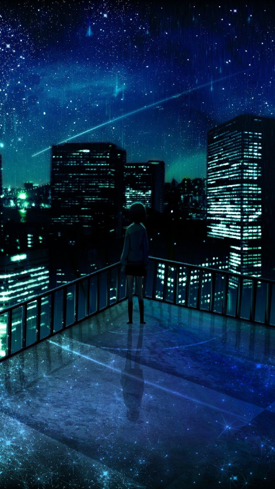 lansekap kota di malam hari  wallpaper.sc Android