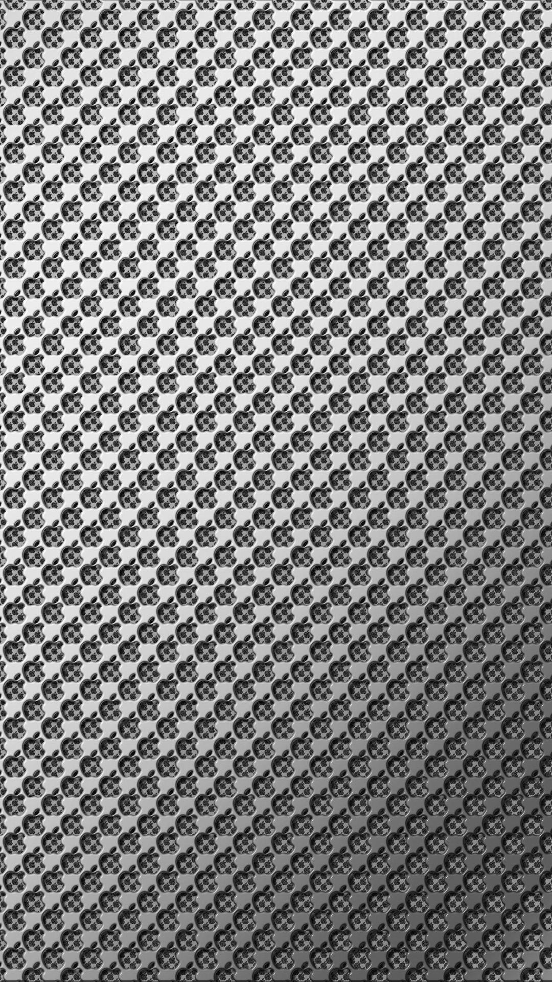 Apple Metal Silver Wallpaper Sc Smartphone