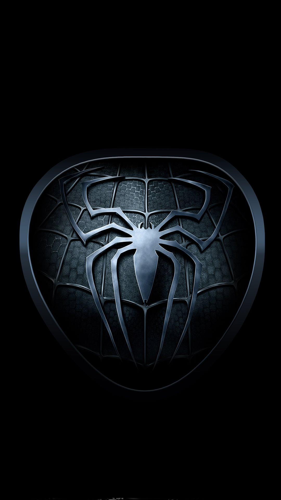 Black spider logo smartphone - Wallpapers android hd ...