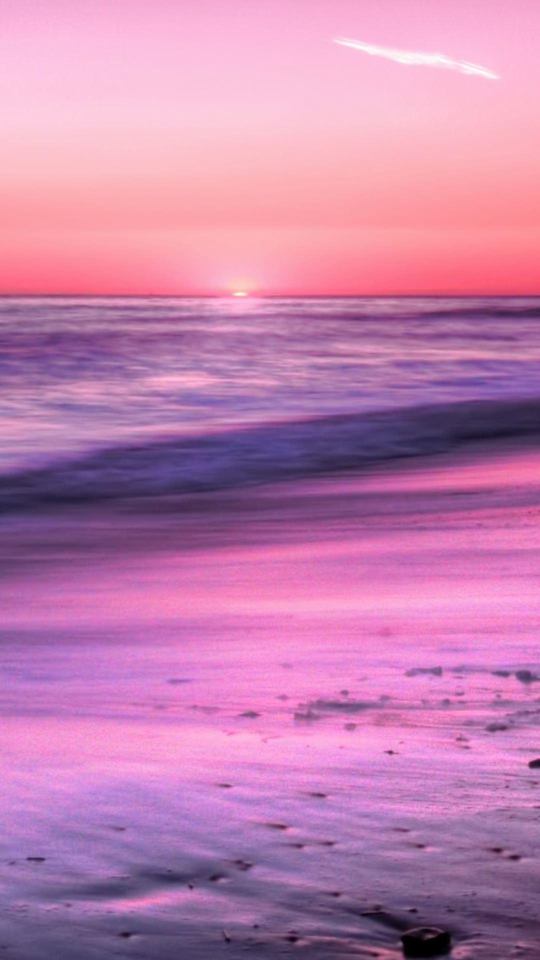 Pemandangan Laut Ungu Wallpapersc Android