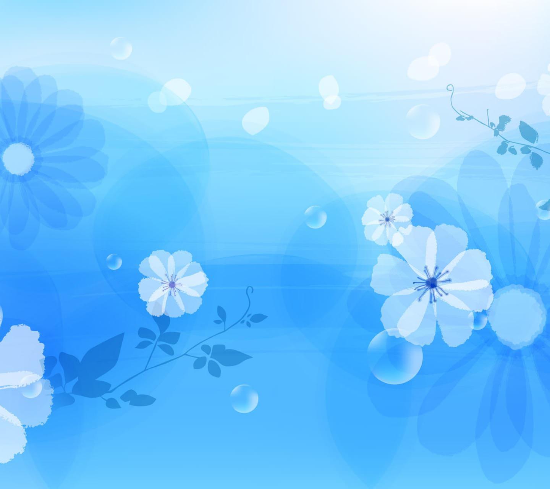Pola Bunga Biru Wallpapersc Android