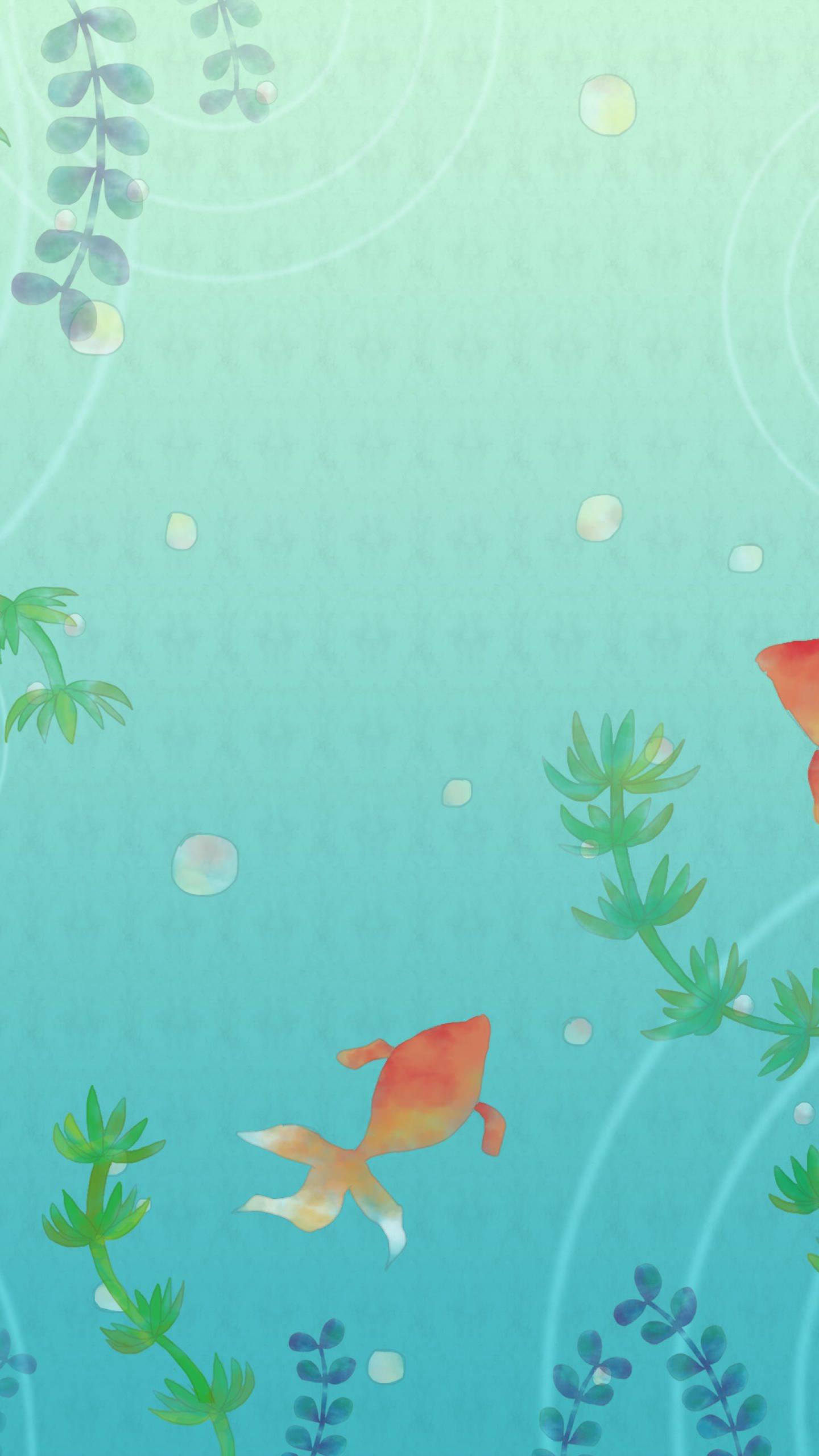 金魚イラスト Wallpaper Sc スマホ壁紙