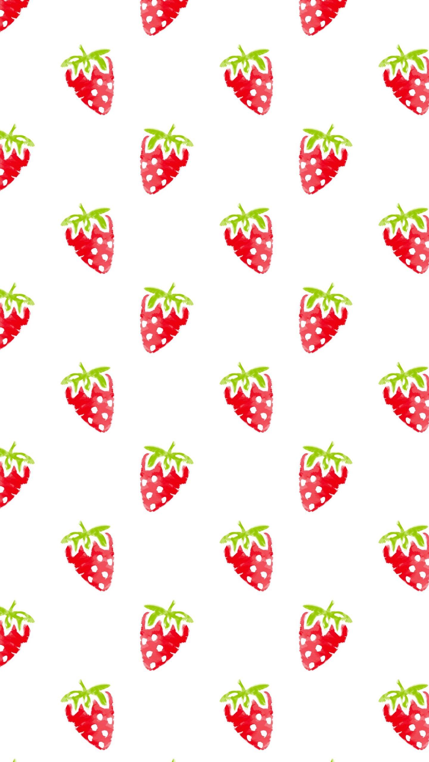 模様イラストフルーツイチゴ赤女子向け Wallpaper Sc スマホ壁紙