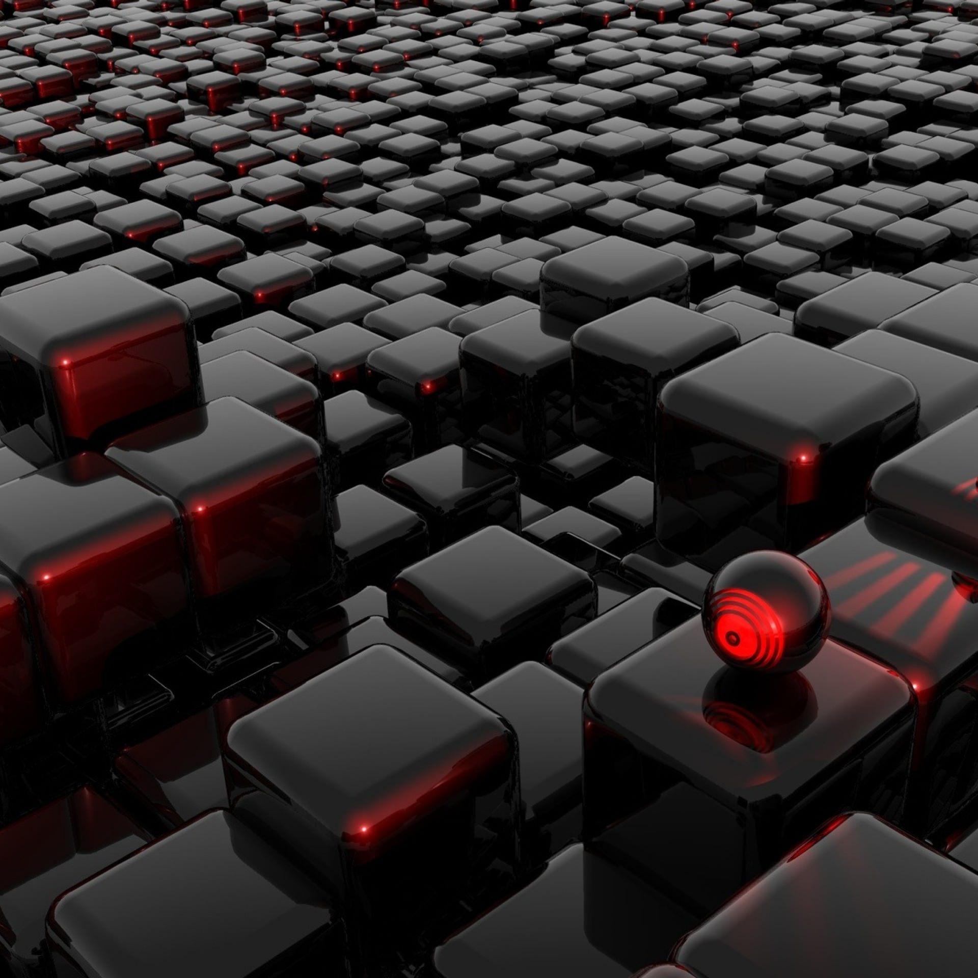 クールブロック赤黒 Wallpaper Sc スマホ壁紙