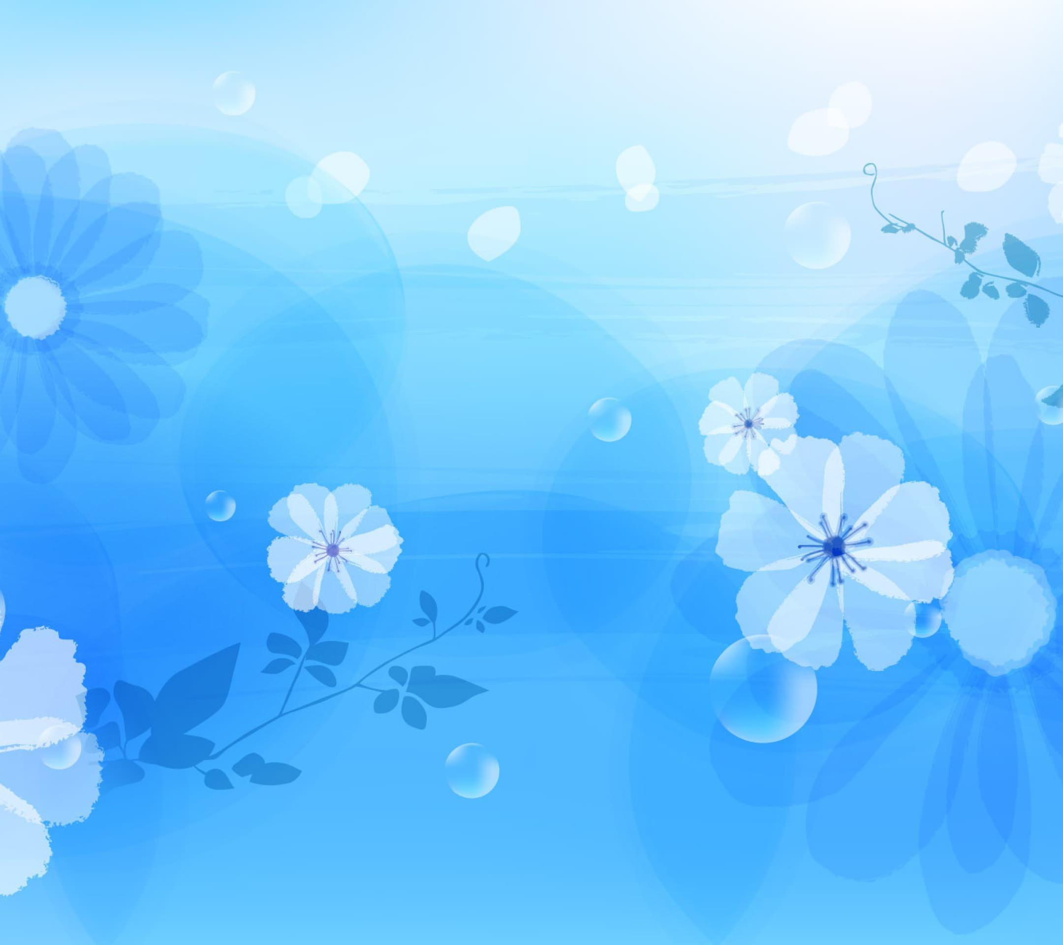Pola Bunga Biru Wallpaper Sc Android