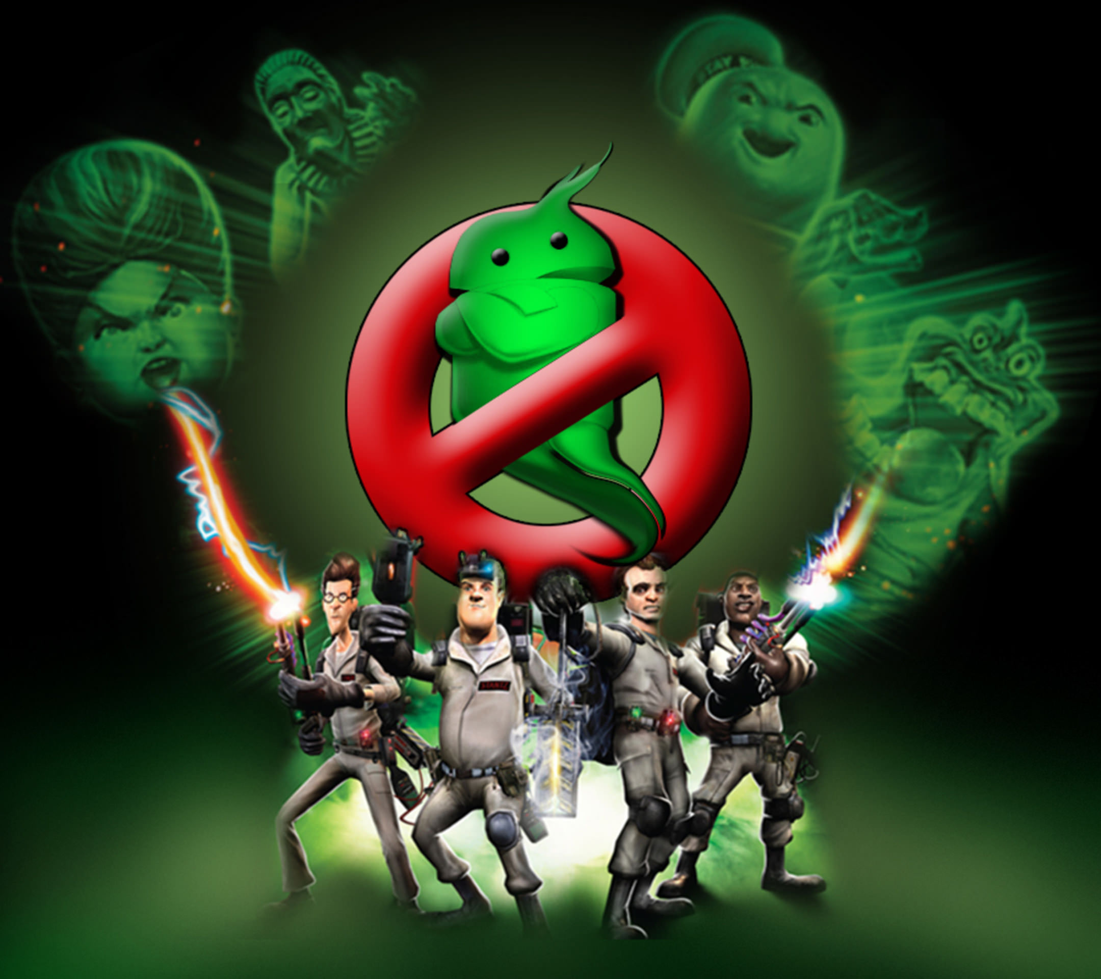 Android Logo Ghostbusters
