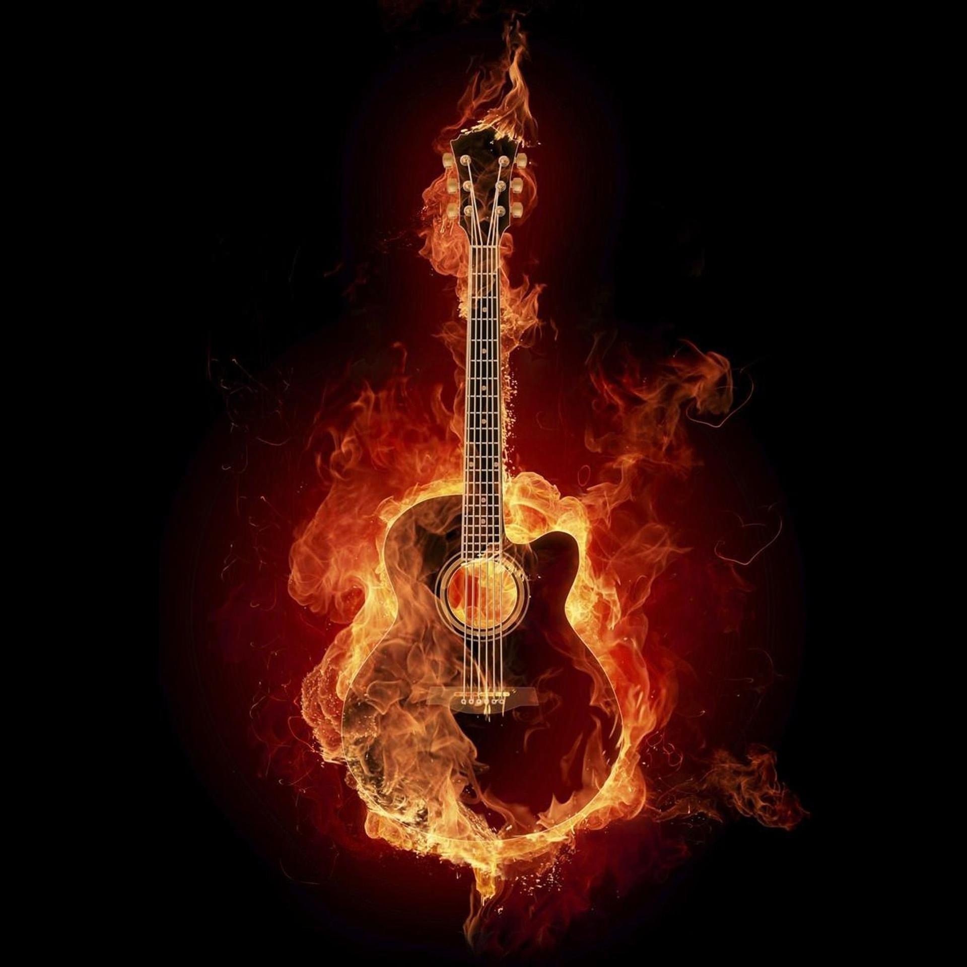 Cool Guitar Flame Wallpapersc Smartphone