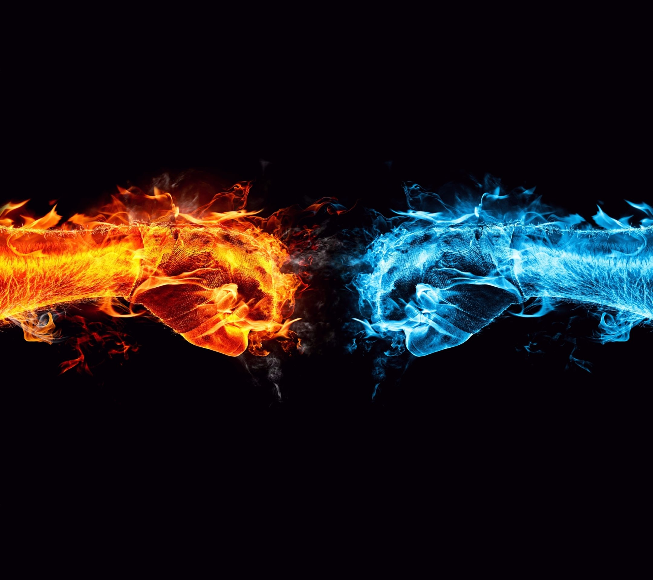 Cool Flame Red Blue Wallpapersc Smartphone