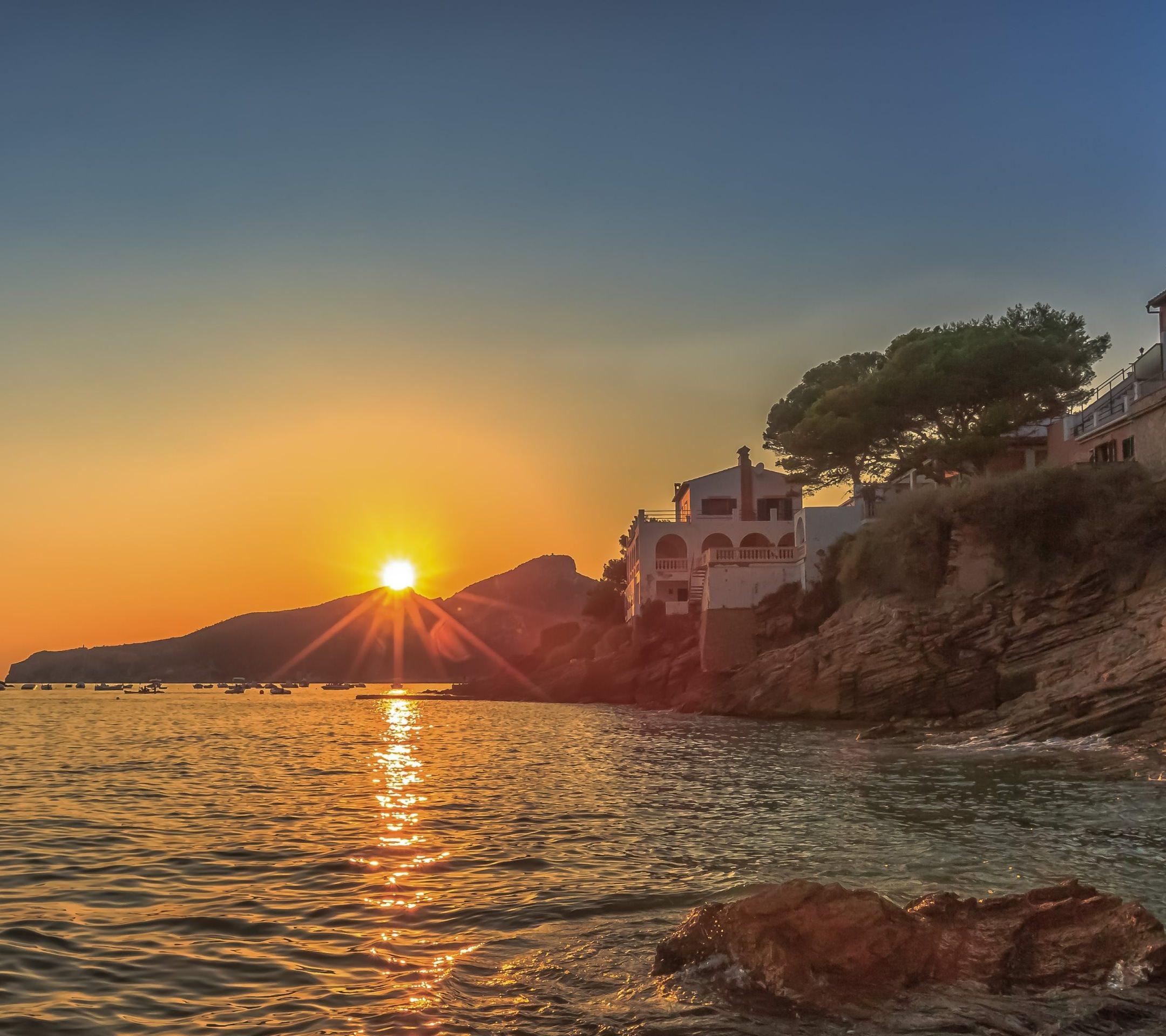 Pemandangan Laut Matahari Terbenam Wallpapersc Android