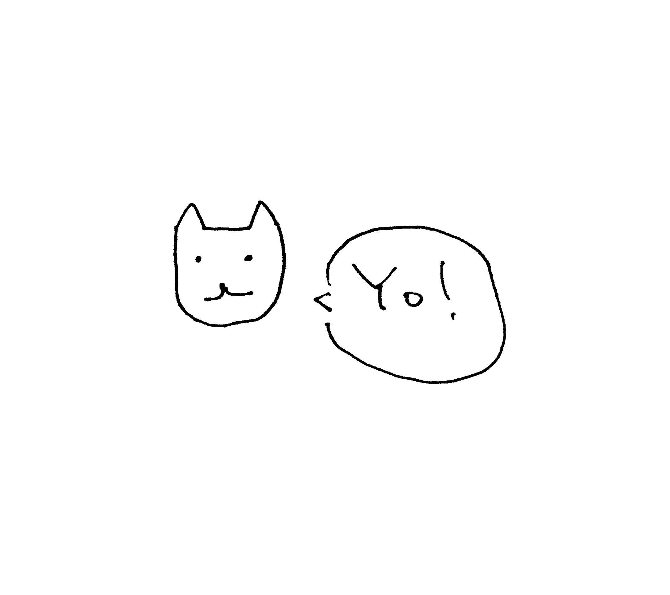 イラスト猫白. スマホ 壁紙