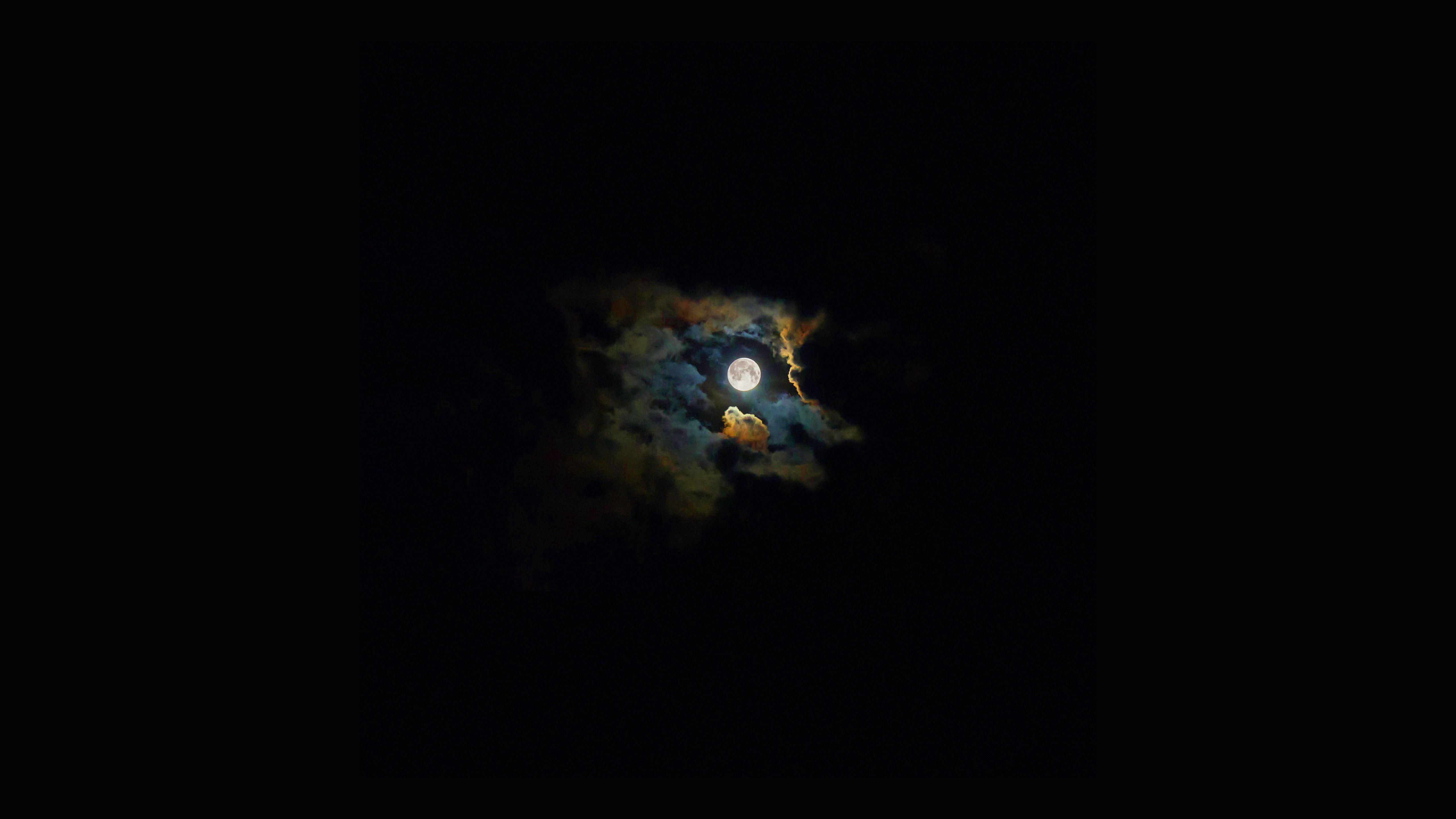 風景夜空月黒 Wallpaper Sc Desktop