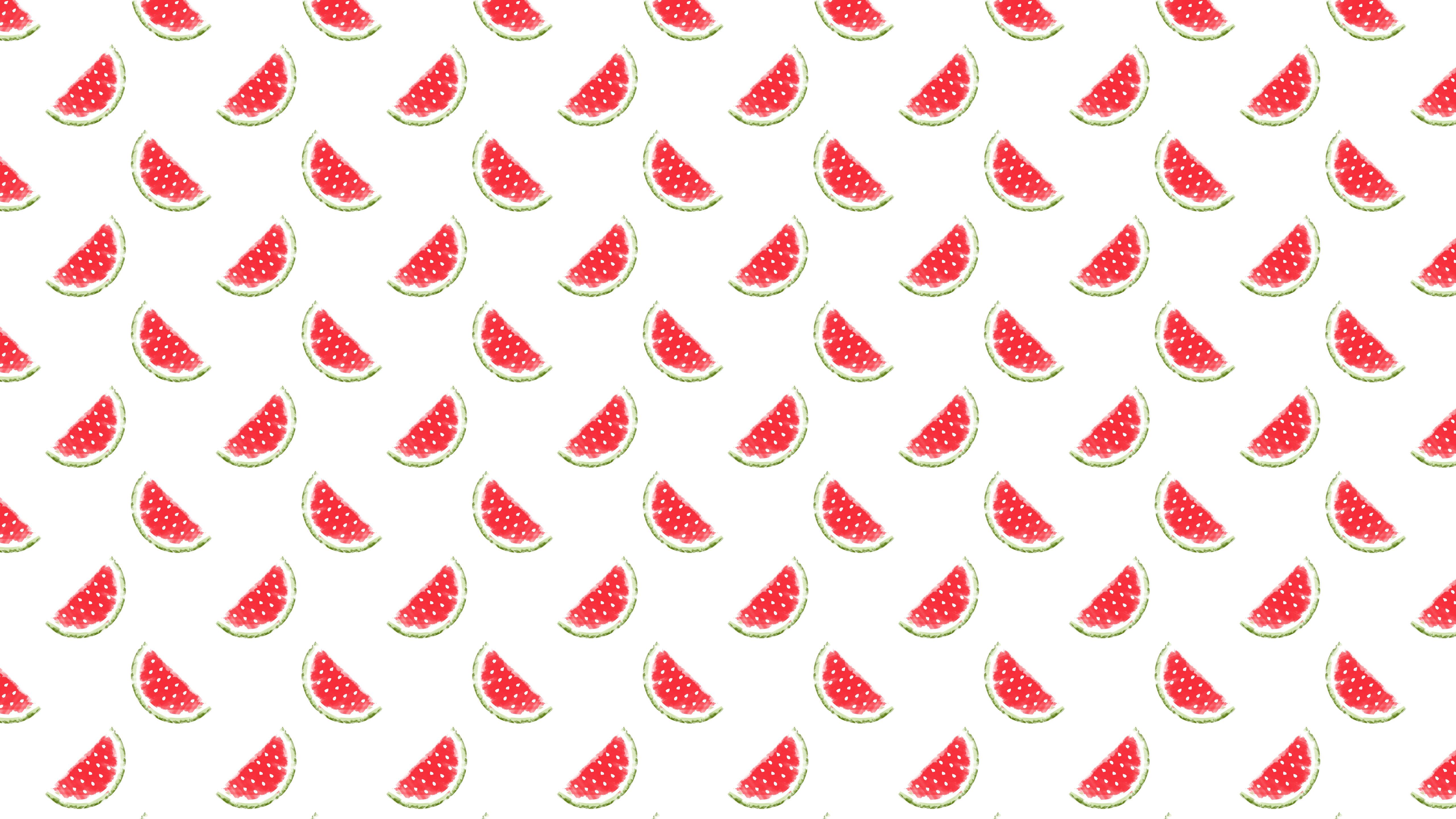 Pattern Illustration Fruit Watermelon Red Women Friendly