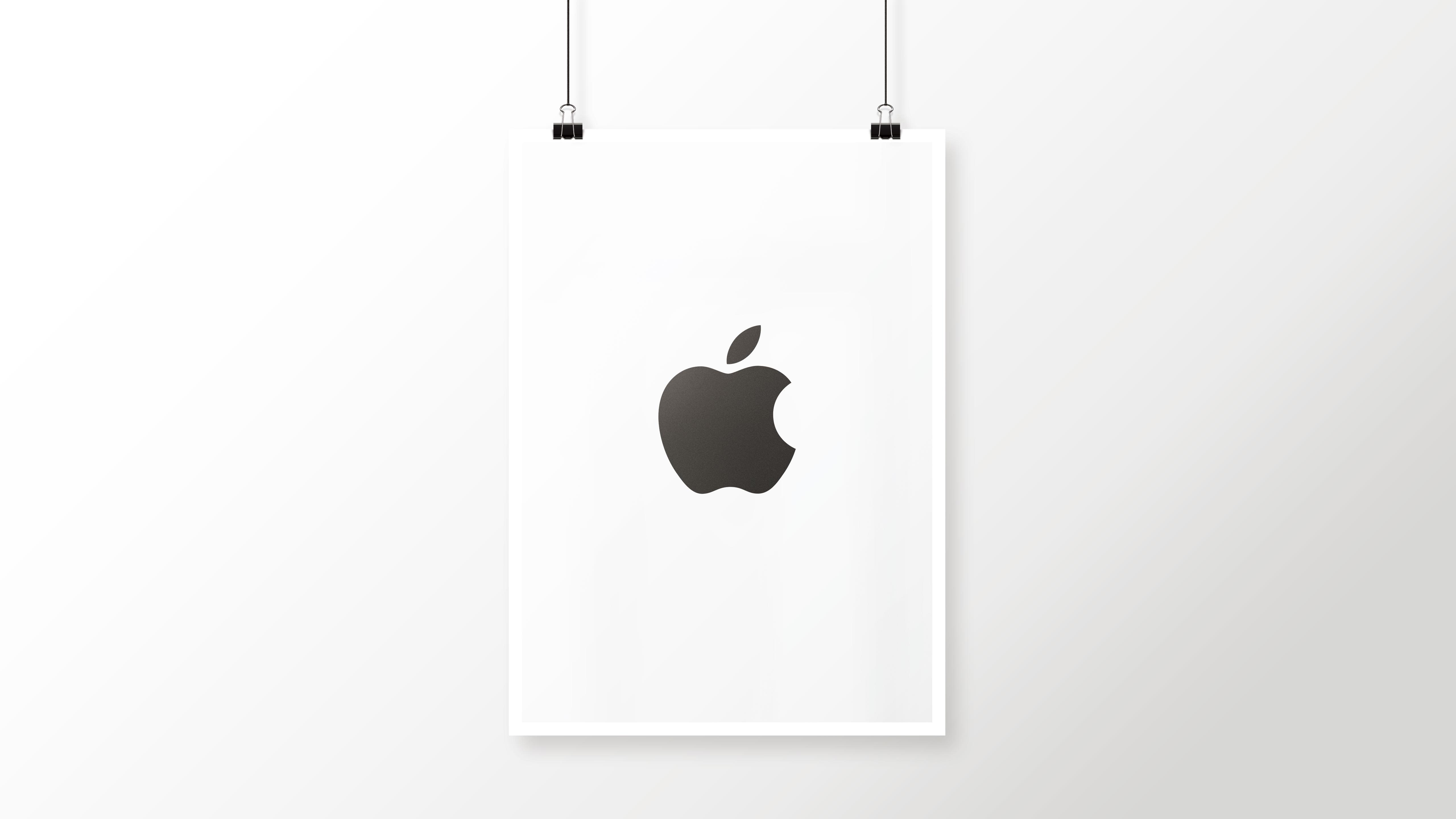 Apple Logo Black And White Cool Poster Wallpaper Sc Desktop