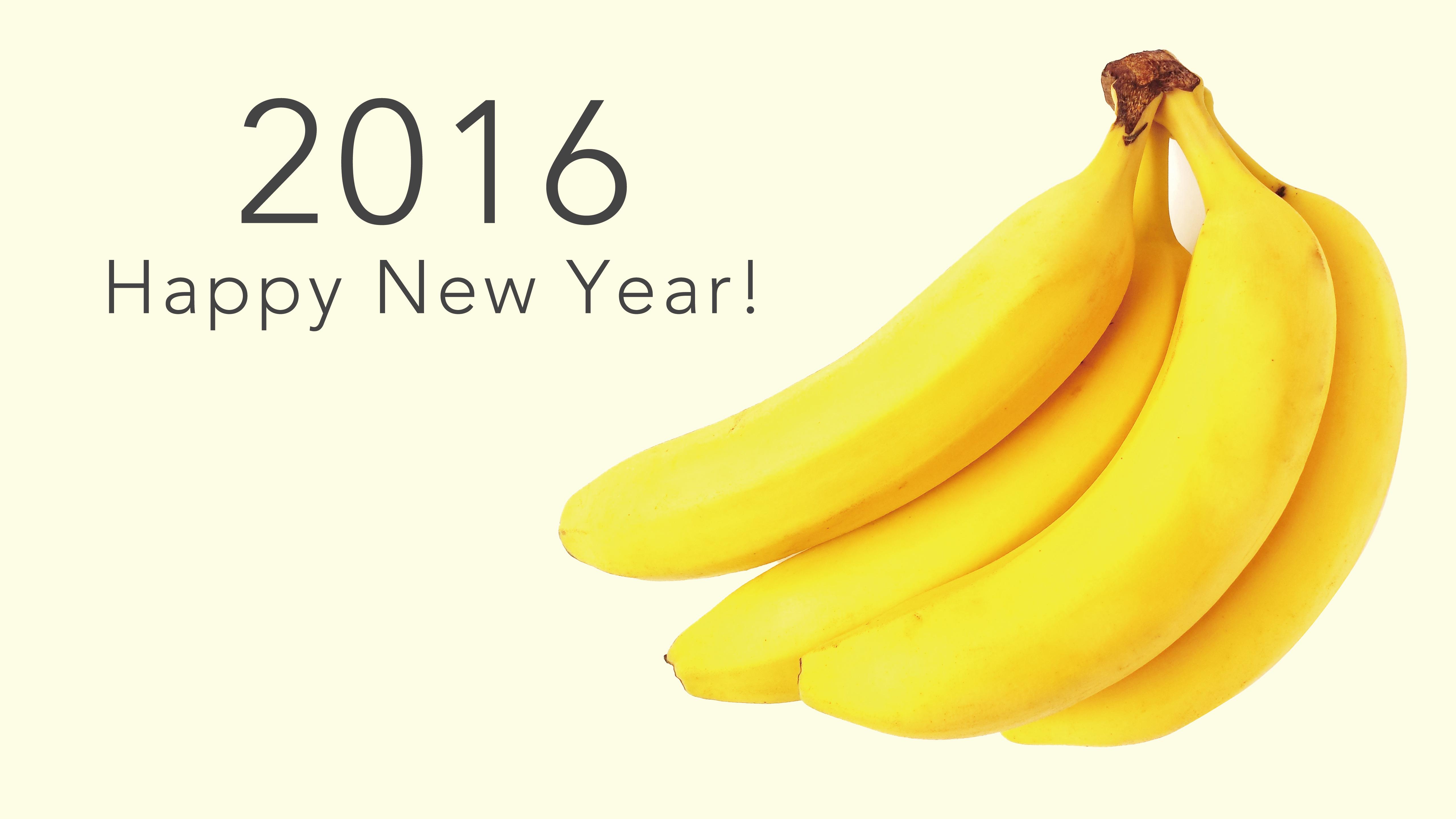 happy news year 2016 banana yellow wallpaper | wallpaper sc