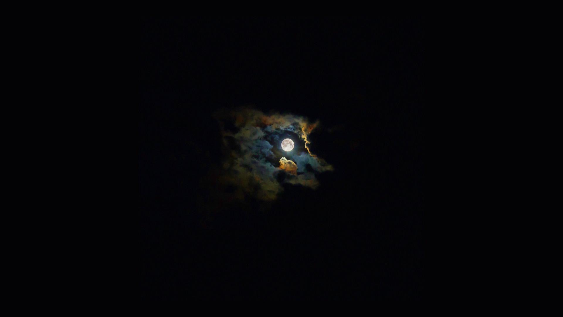 風景夜空月黒 | wallpaper.sc De...