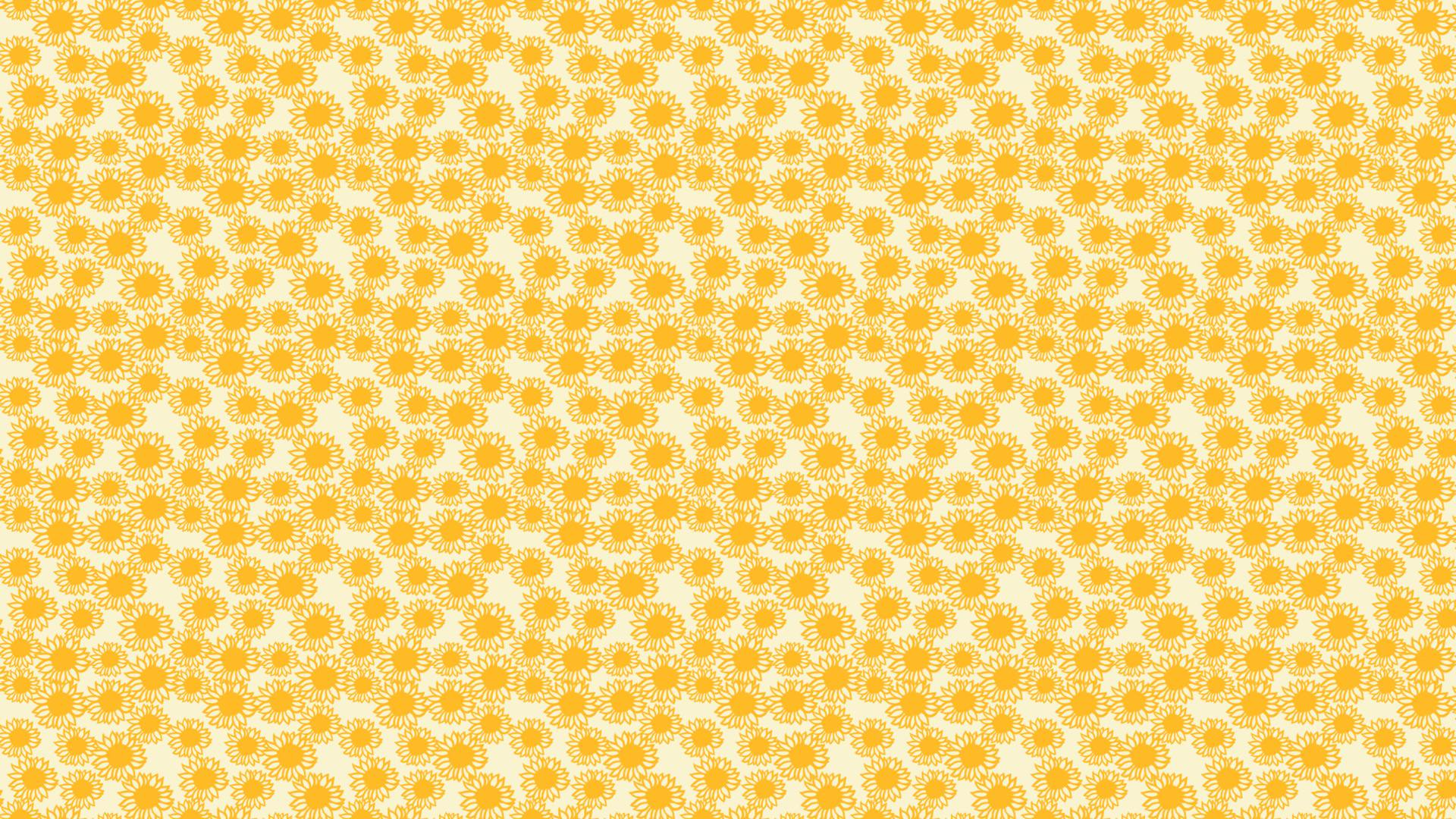 Pattern sunflower yellow women-friendly | wallpaper.sc Desktop