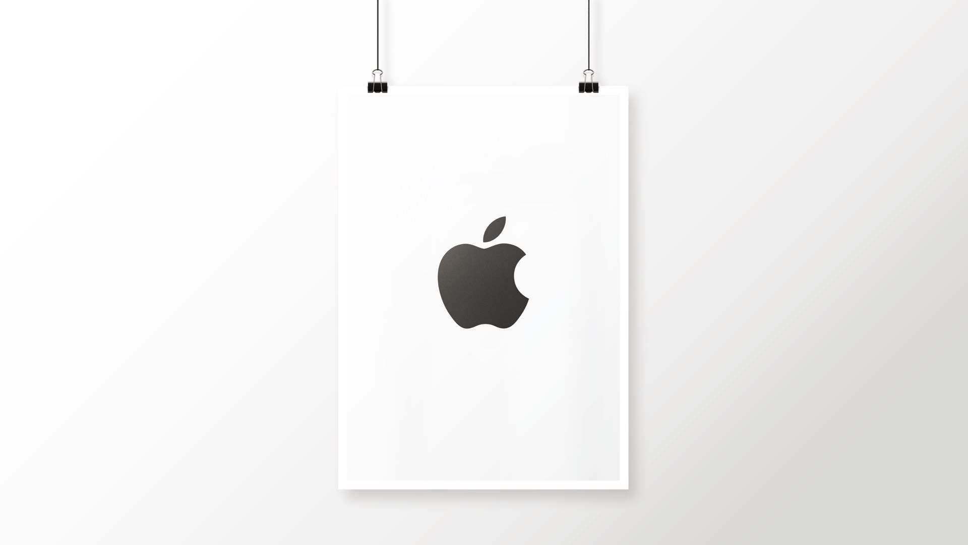 Apple Logo Black And White Cool Poster Wallpaper Sc Desktop