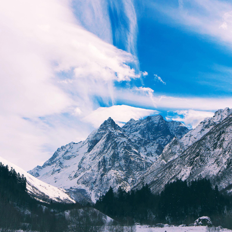 Awan Pemandangan Gunung Bersalju Wallpapersc IPad Tablet