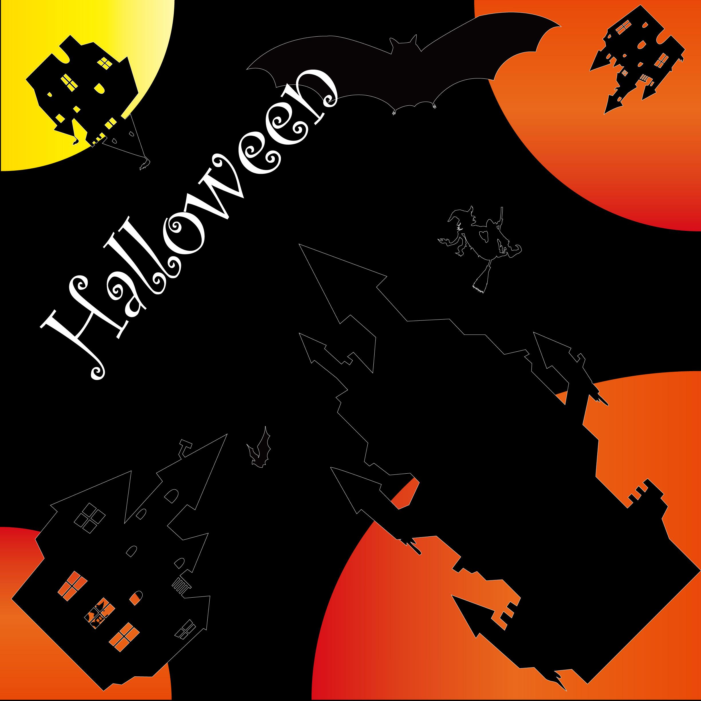 Ilustración De Halloween Naranja Negro Wallpapersc Ipad