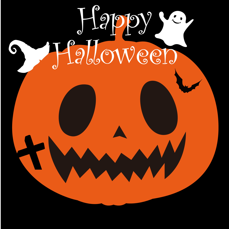 Illustration Halloween Pumpkin Orange Wallpapersc Ipad