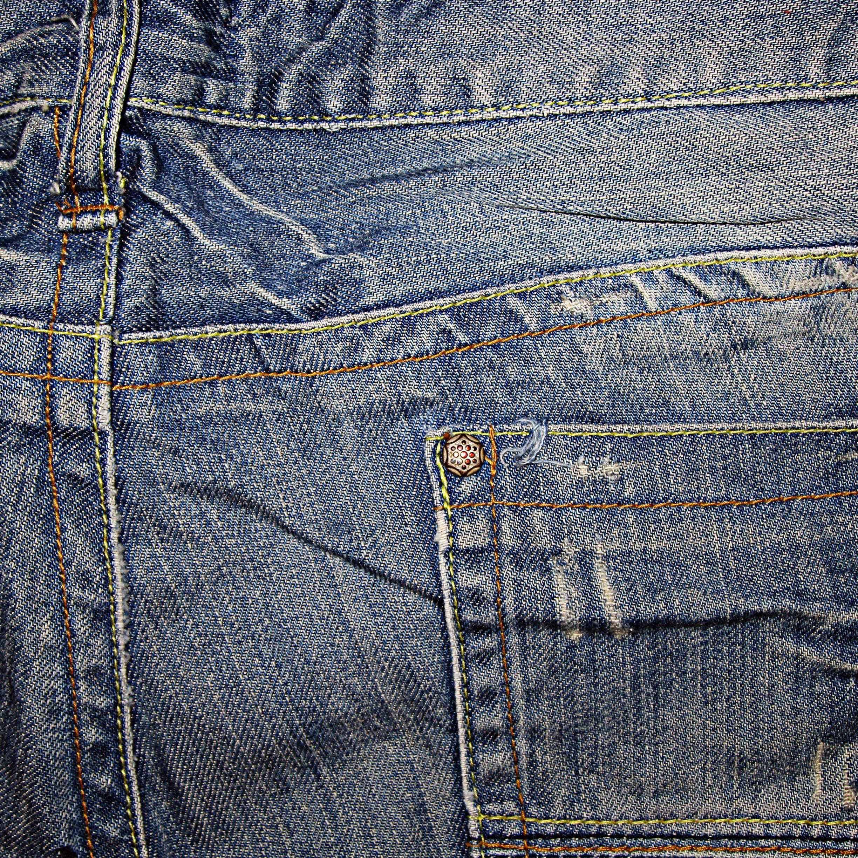 Denim Blue Navy Pocket