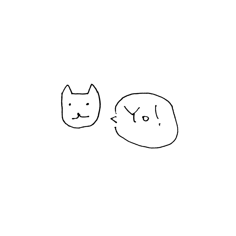 イラスト猫白yo! | wallpaper.sc ipad壁紙