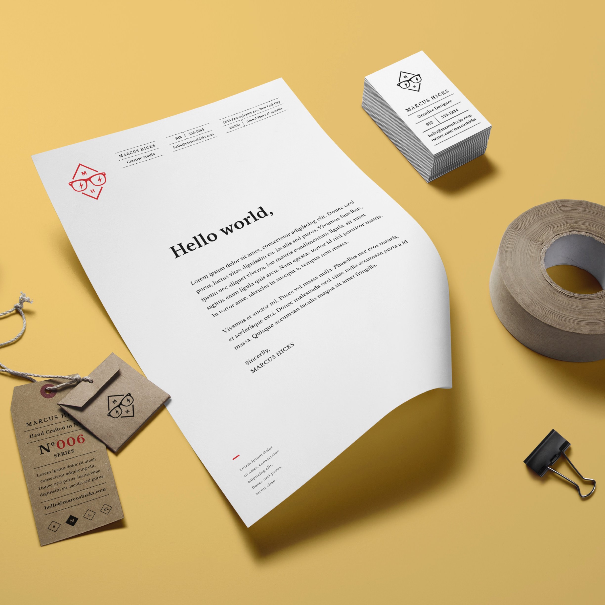 Stationery white yellow business card tape wallpaper ipad ipad wallpaper reheart Image collections