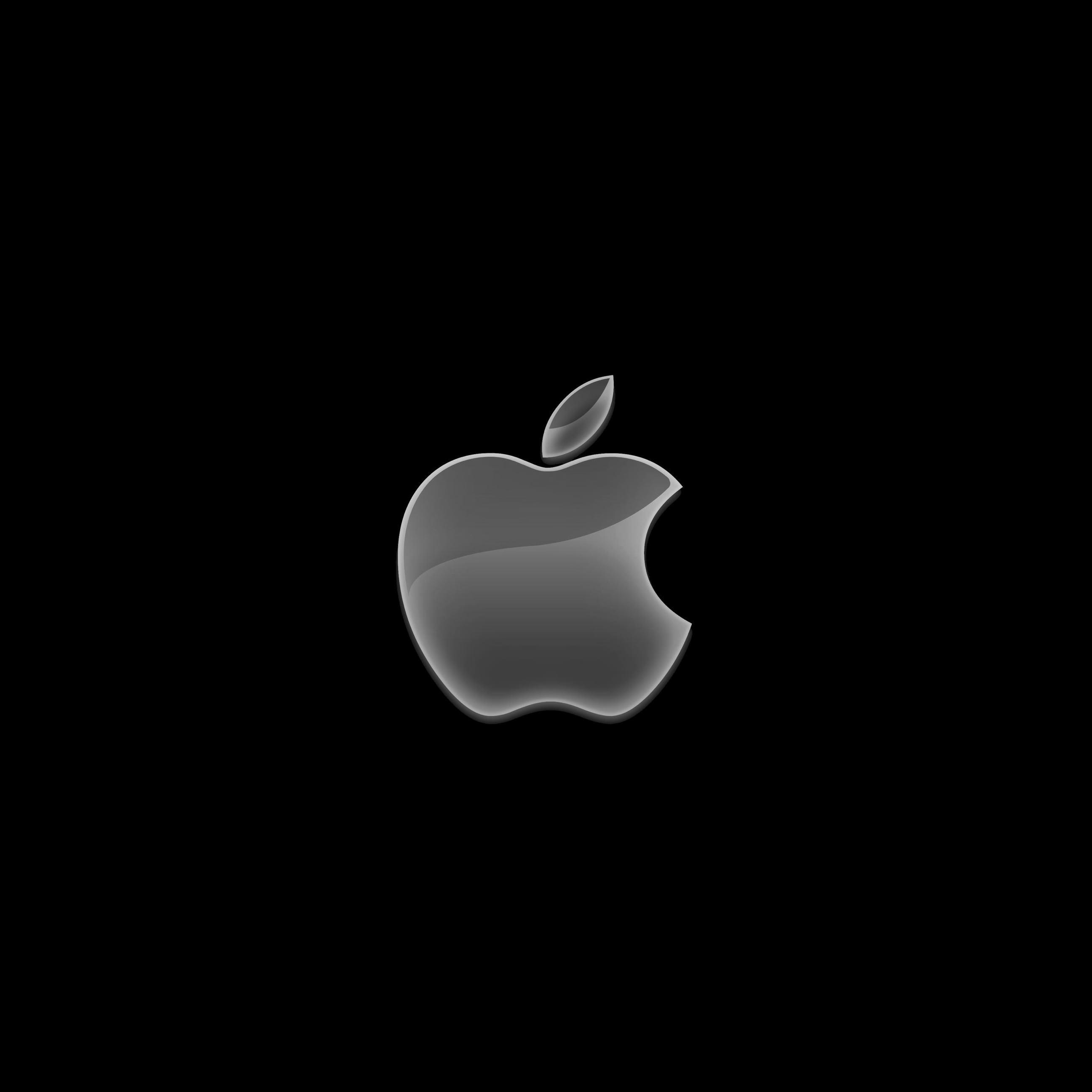 Appleロゴ黒クール Wallpaper Sc Ipad壁紙