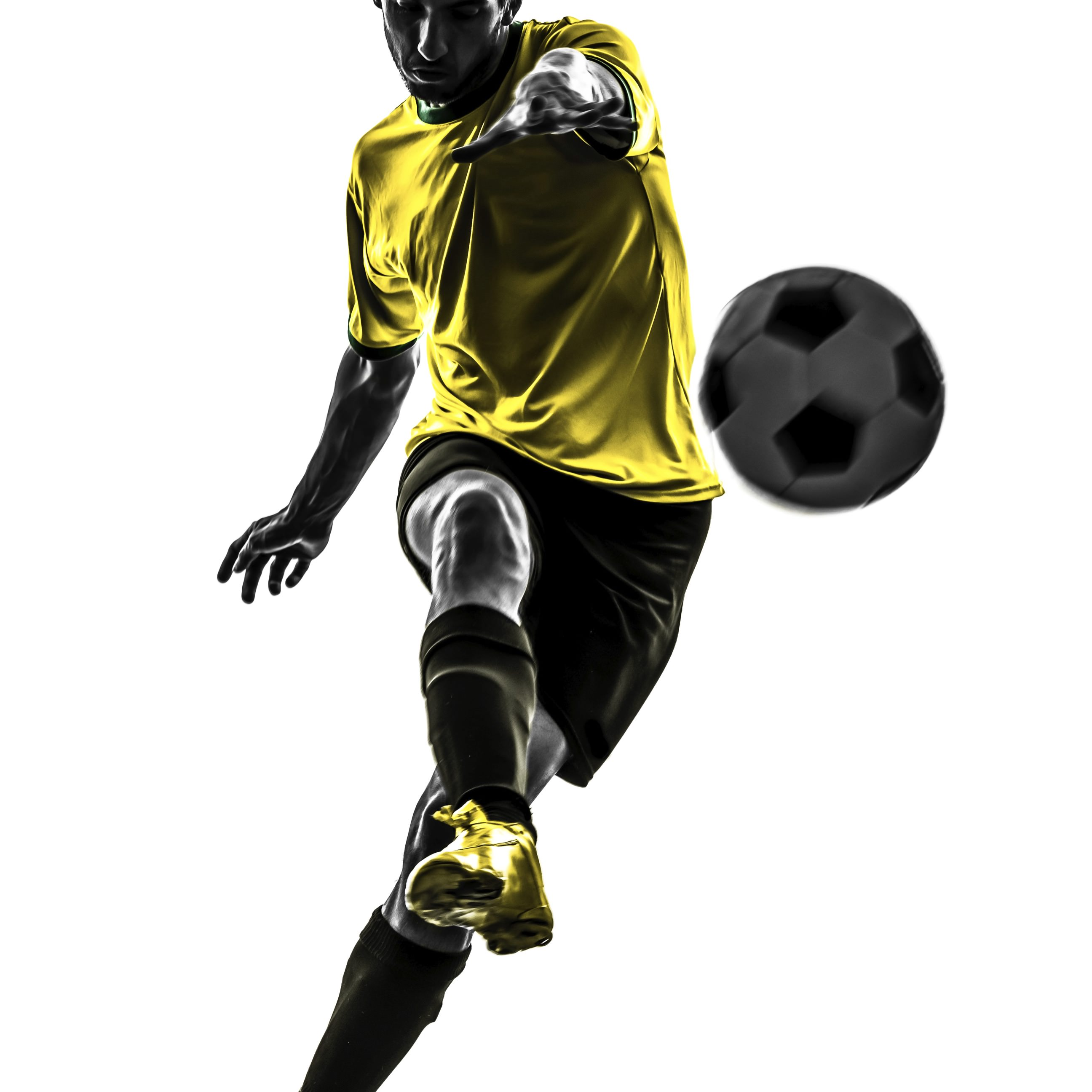 Soccer Ball Yellow Black