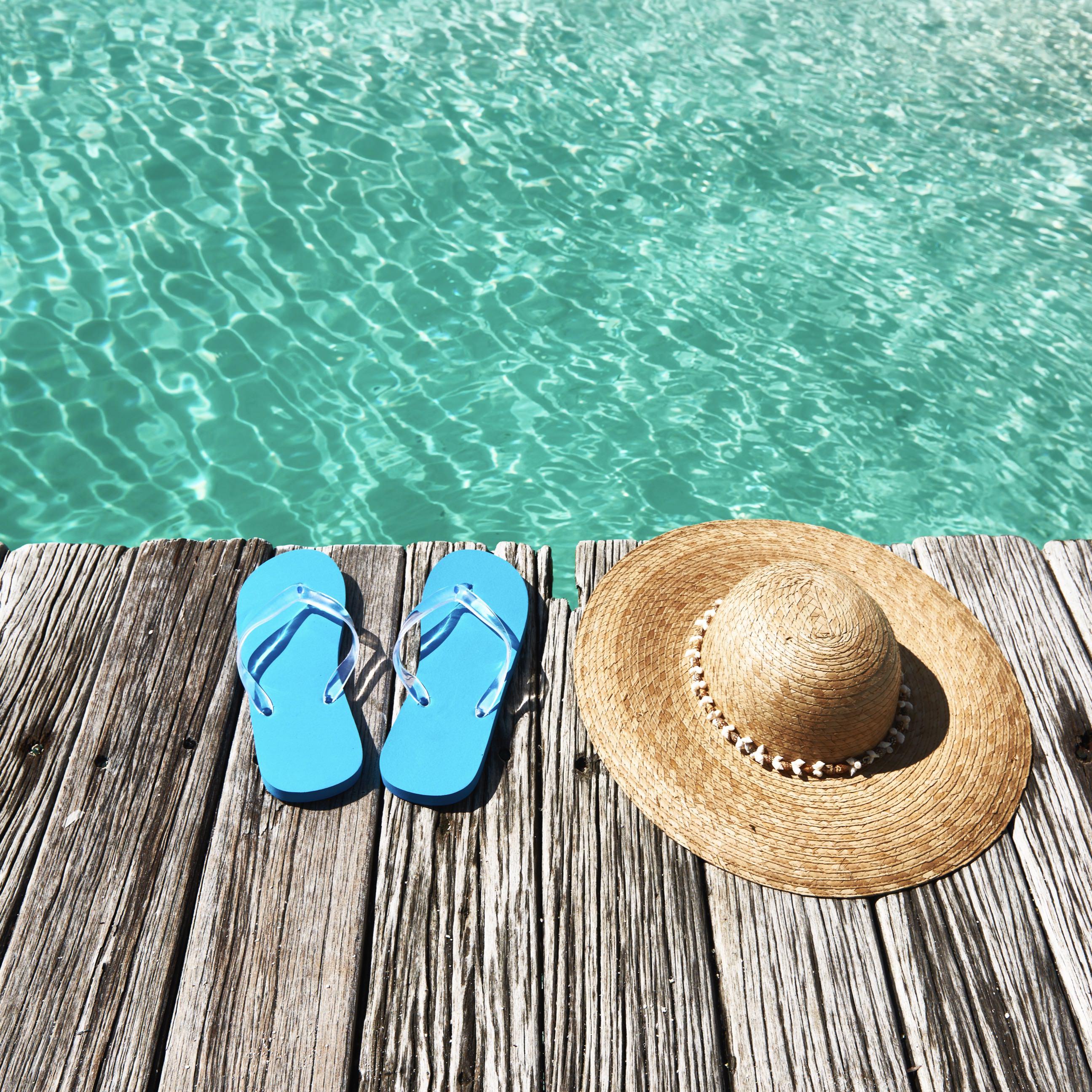 Sea Hat Sandals Beach Wallpaper Sc Ipad
