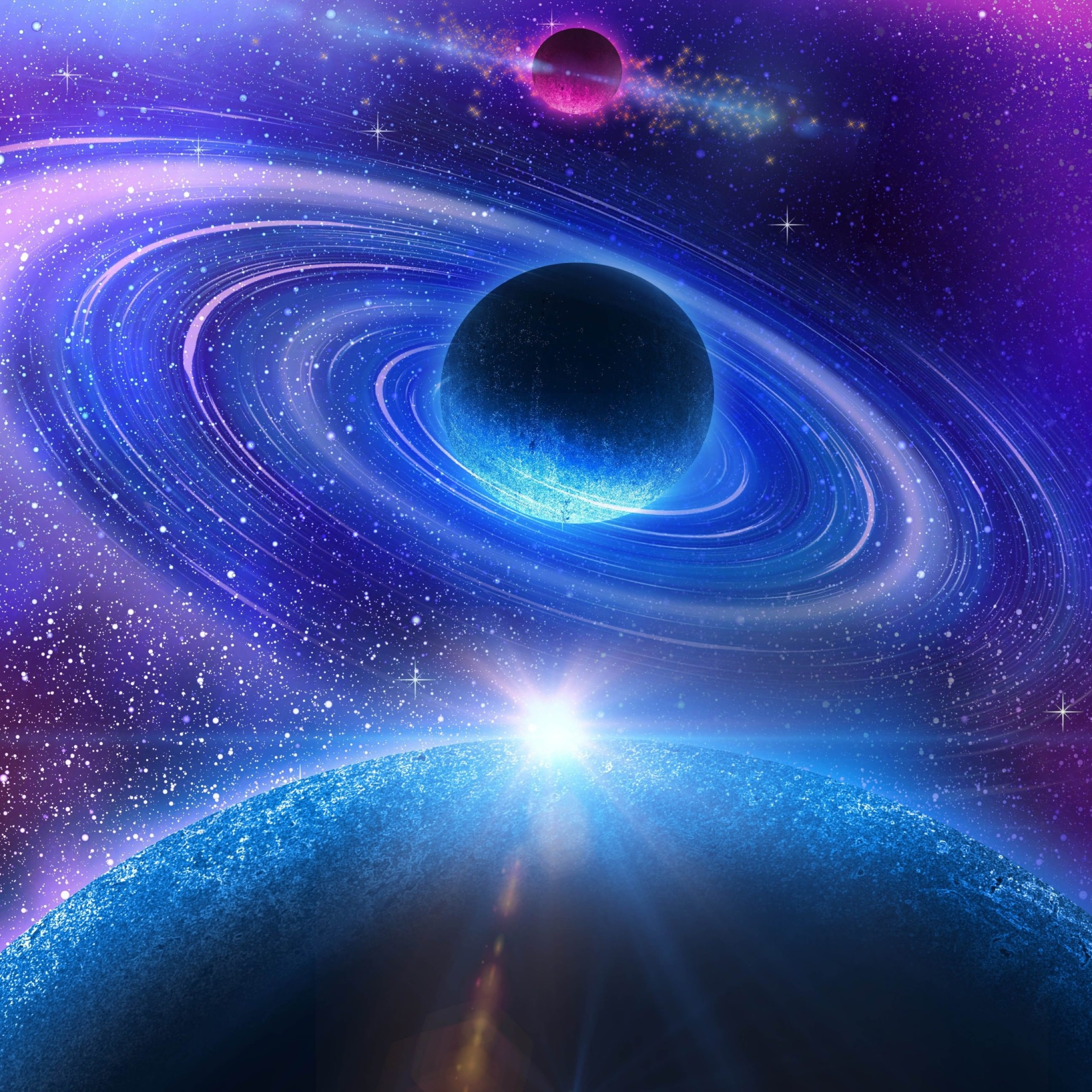 colorful 3d wallpaper planets - photo #18