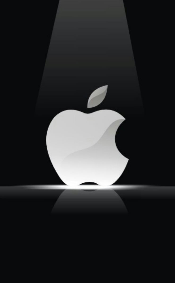 Apple黒白 Wallpaper Sc Iphone4s壁紙