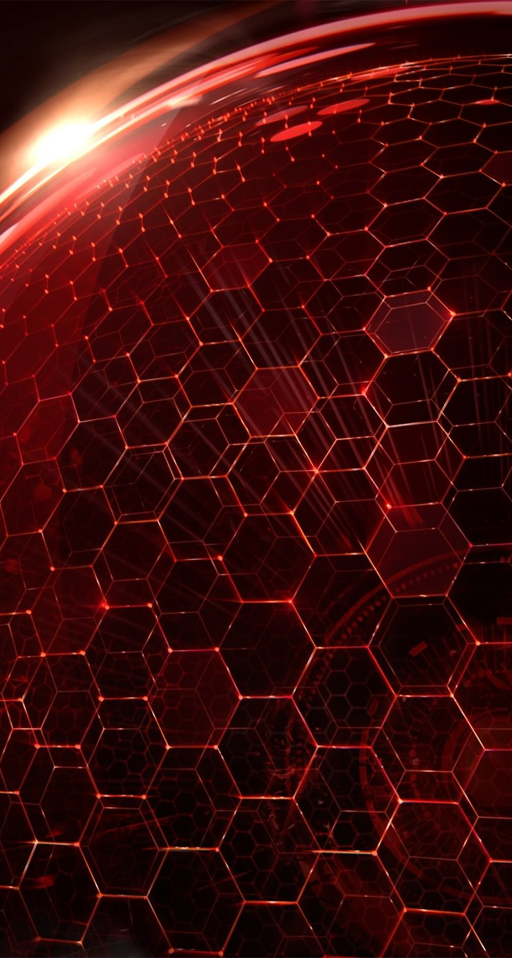 Honeycomb Pattern Red Wallpaper Sc Iphone5s Se