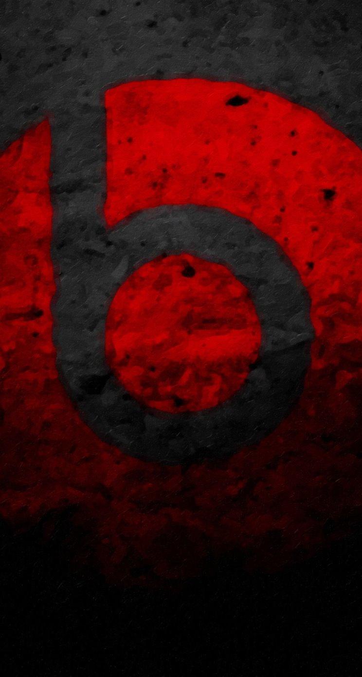 ロゴ赤黒 Wallpaper Sc Iphone5s Se壁紙