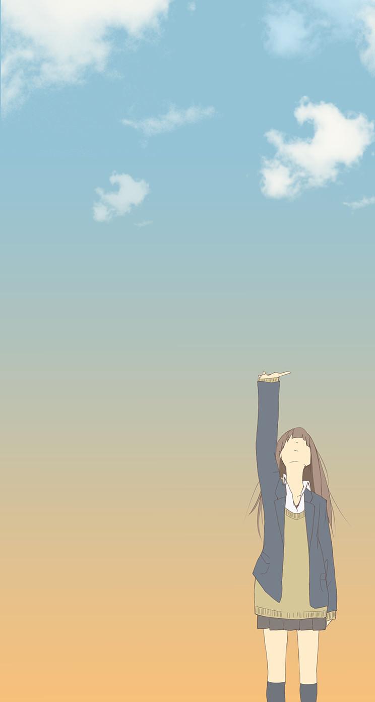 Chara Schoolgirl Wallpaper Sc Iphone5s Se