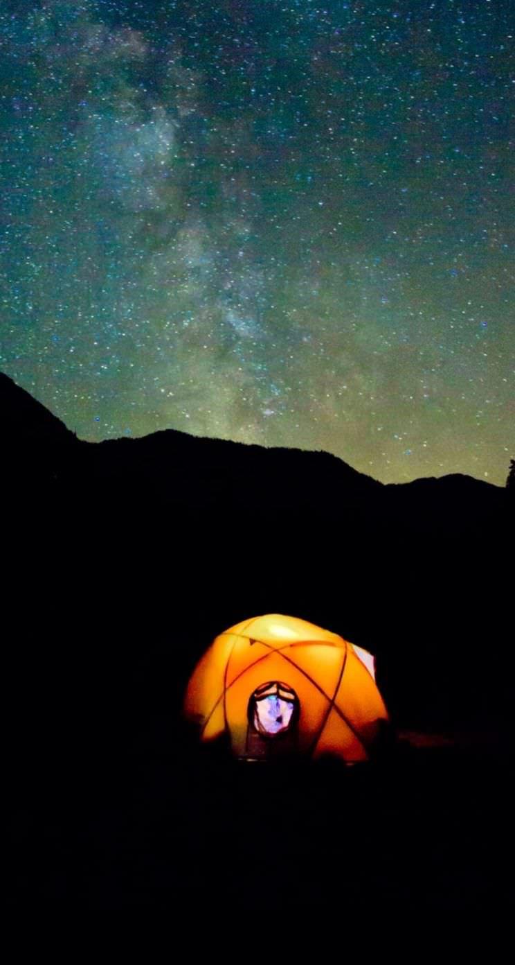 Pemandangan Bintang Langit Malam Wallpaper Sc Iphonese 5s