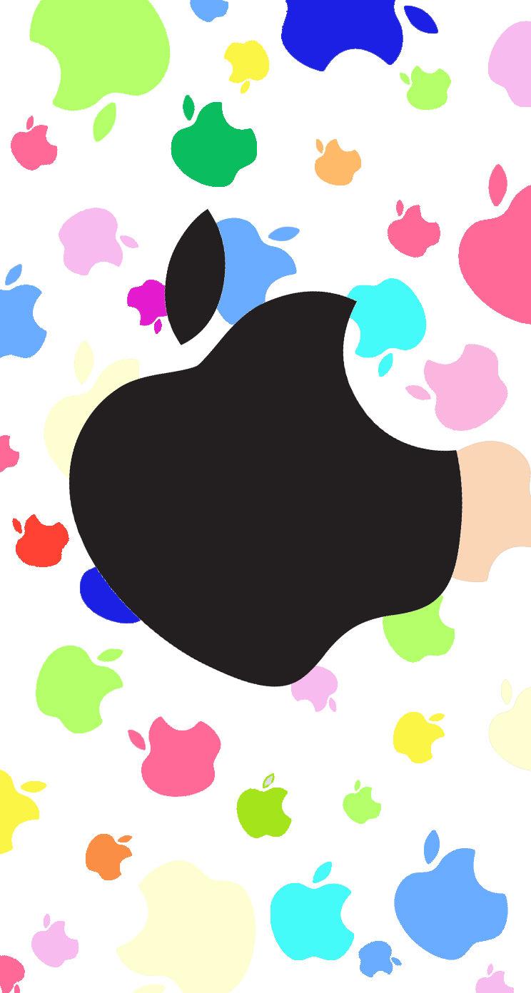 Women's cute apple logo colorful | wallpaper.sc iPhone5s,SE