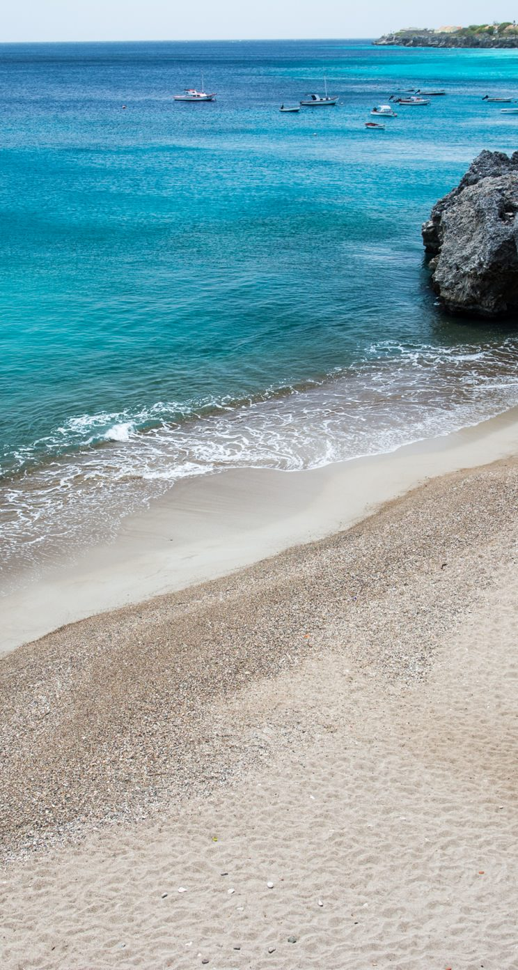Beach Blue Boat Scenery Wallpaper Sc Iphone5s Se