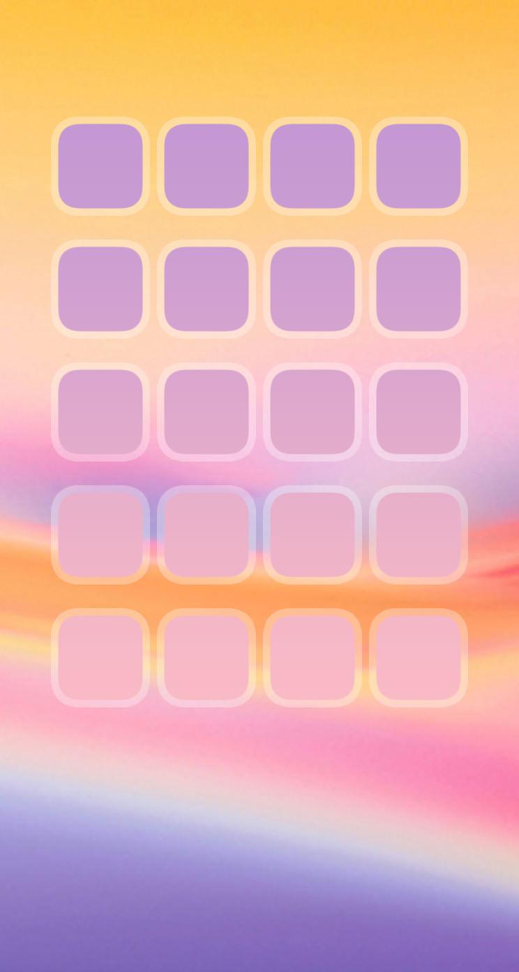 棚紫黄桃可愛い Wallpaper Sc Iphone5s Se壁紙