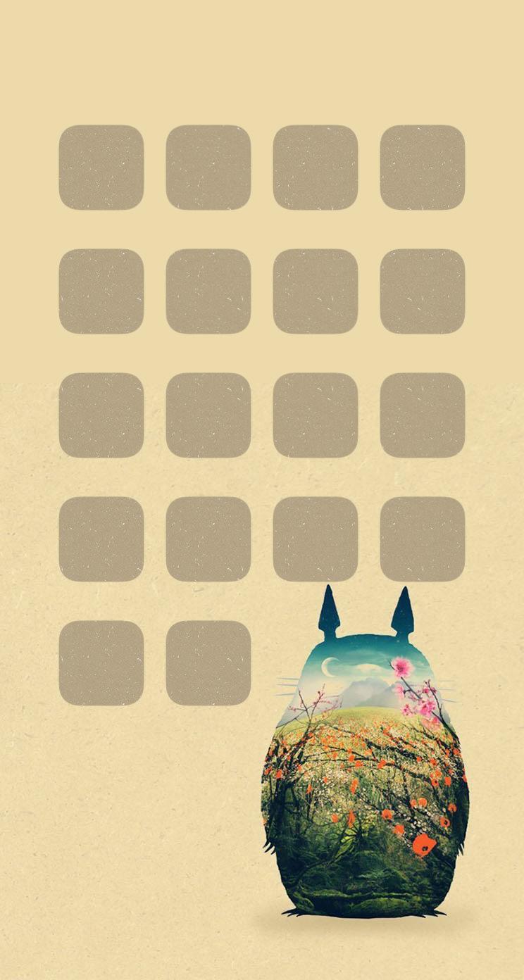 棚キャラアニメ可愛い Wallpaper Sc Iphone5s Se壁紙