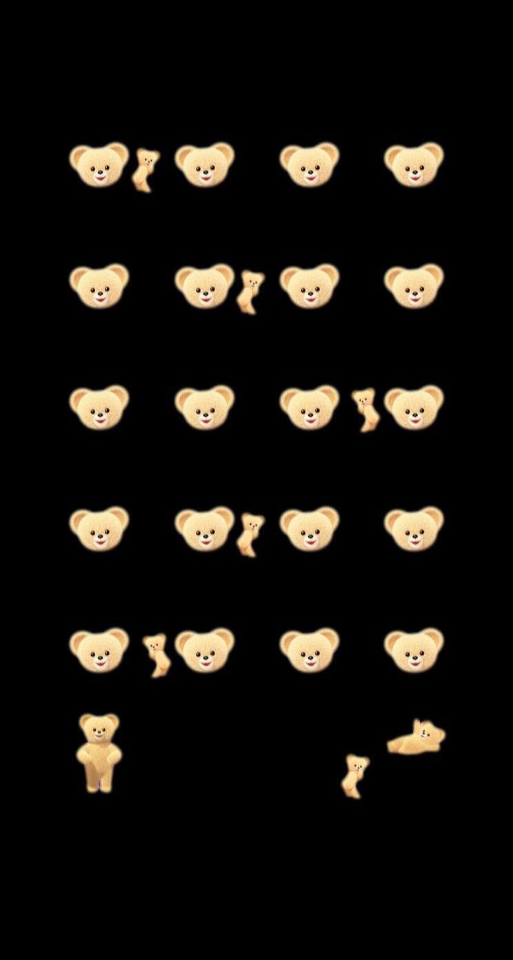 棚熊キャラ黒可愛い女子向けの iPhone5s / iPhone5c / iPhone5 壁紙