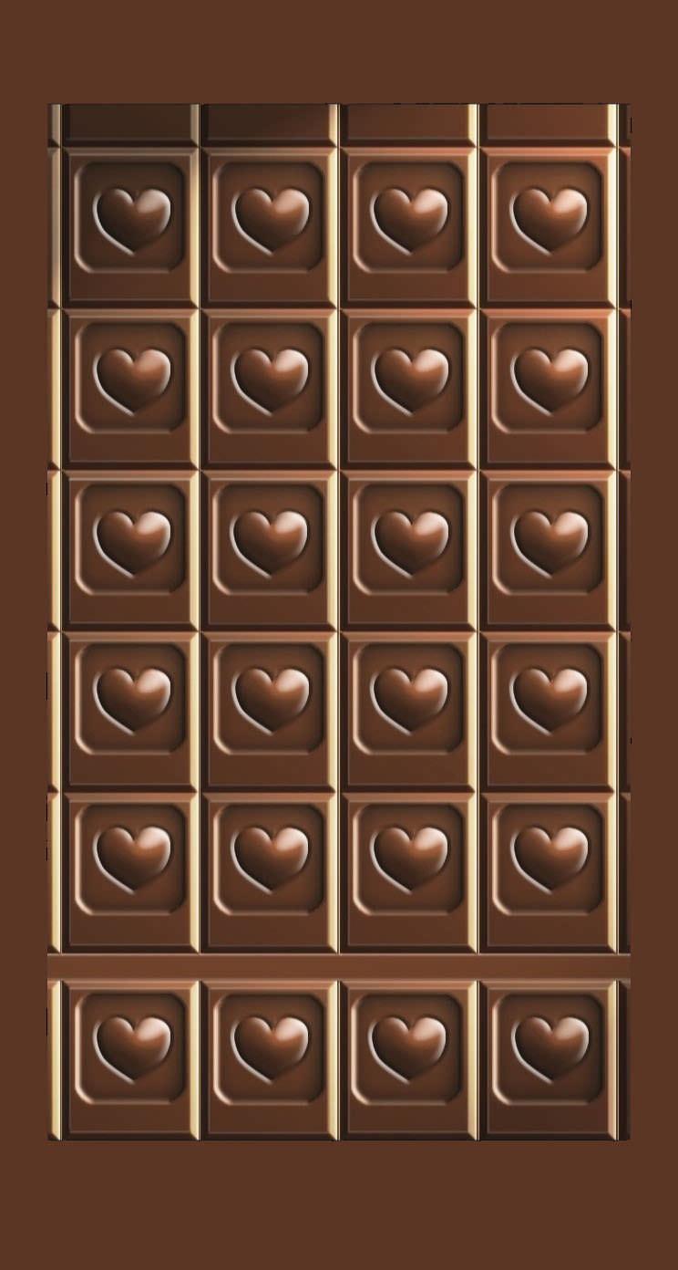 棚チョコレートハート茶 Wallpaper Sc Iphone5s Se壁紙