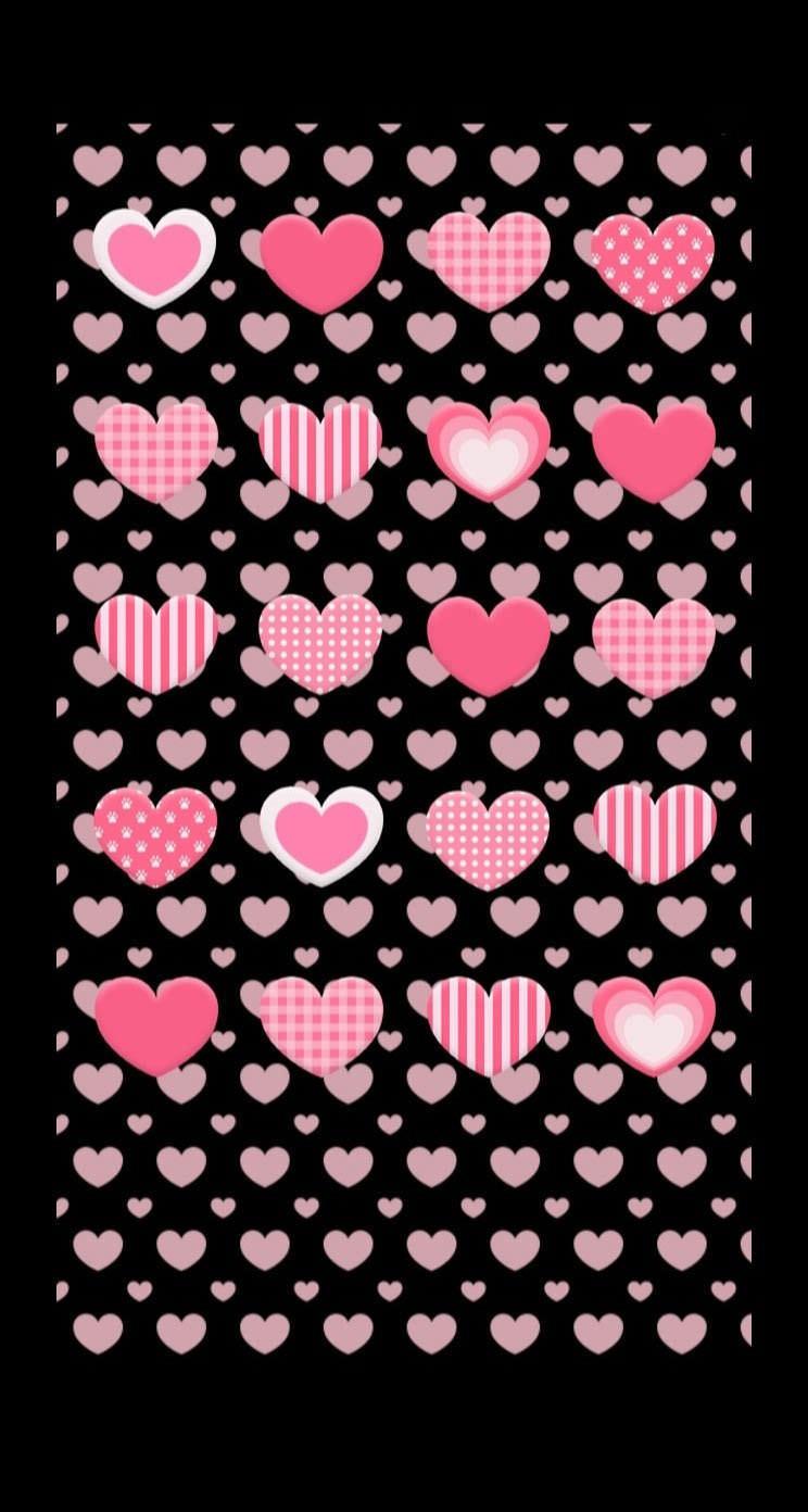 棚ハート黒可愛い女子向け Wallpaper Sc Iphone5s Se壁紙