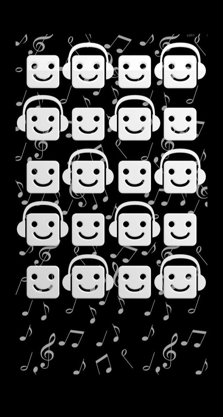 Shelf Black And White Character Music Note Wallpapersc