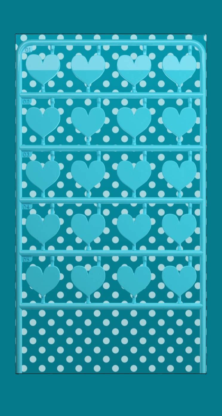 棚ハート青ドット可愛い女子向け Wallpaper Sc Iphone5s Se壁紙