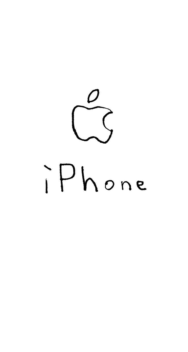 イラストappleロゴiphone白 Wallpaper Sc Iphone5s Se壁紙