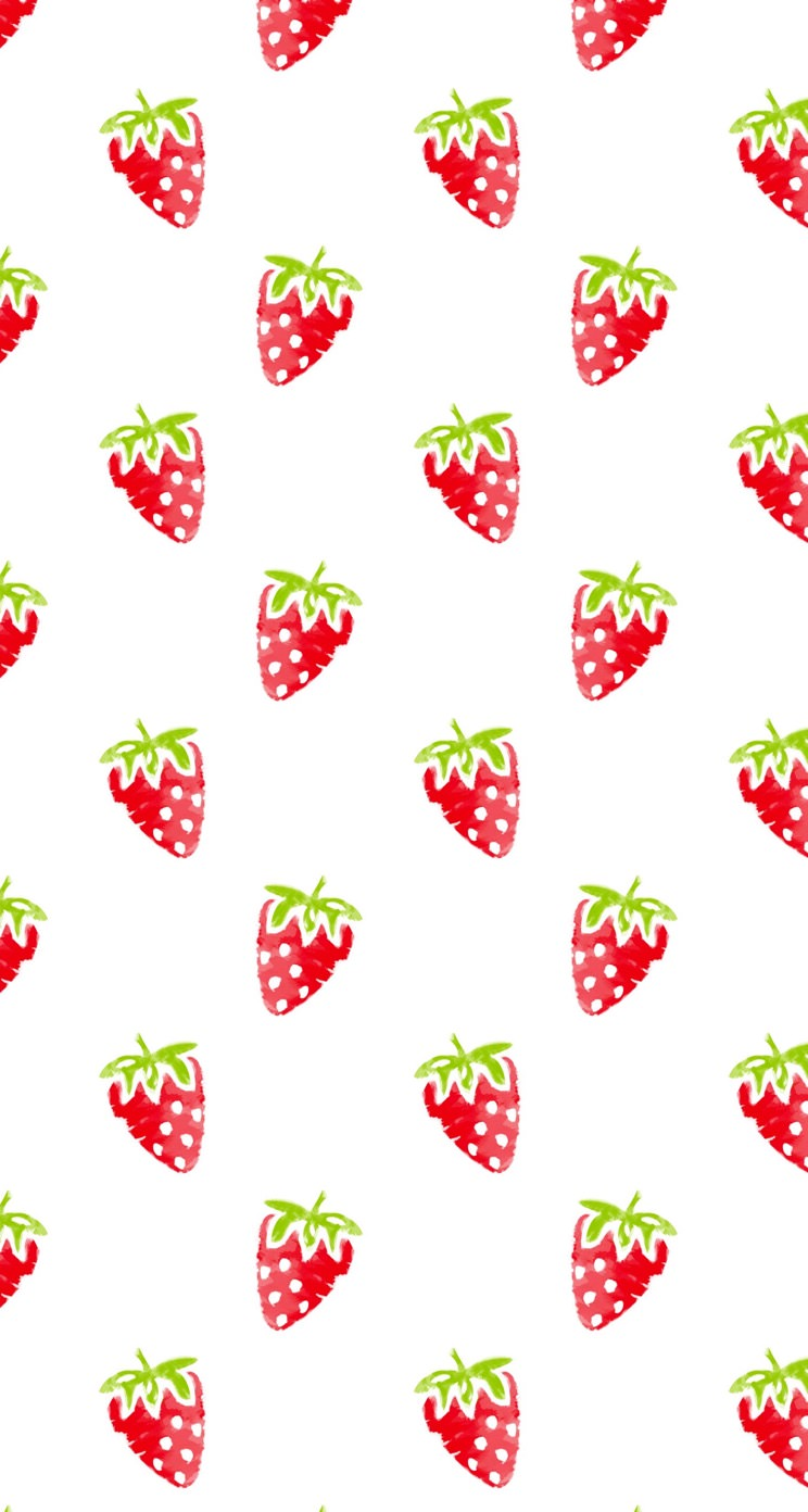 Pattern Illustration Fruit Strawberry Red Women Friendly