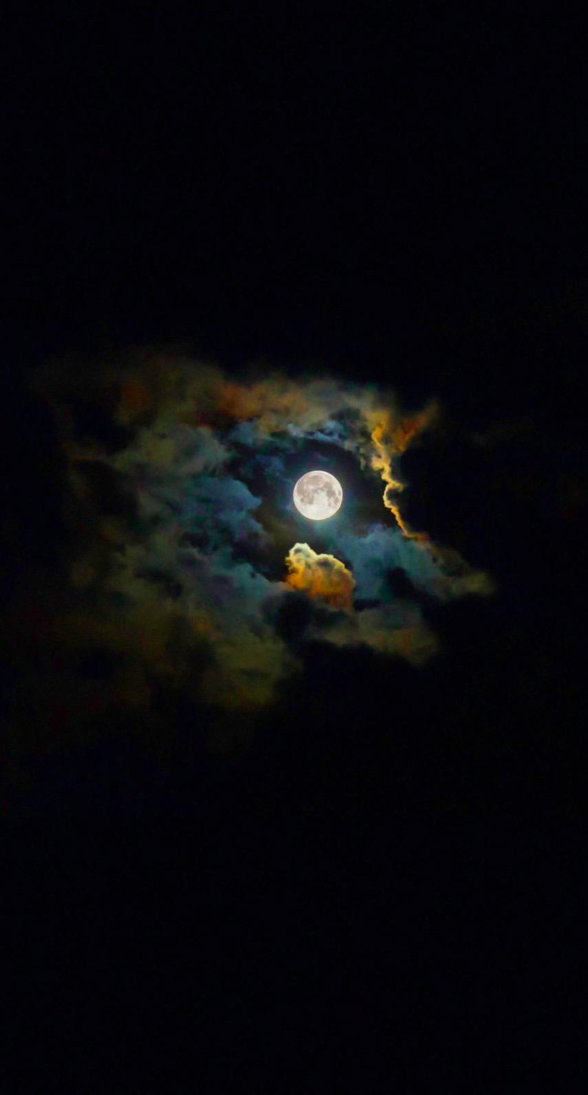 Landscape Moon Shiny Black Wallpaper Sc Iphone6s