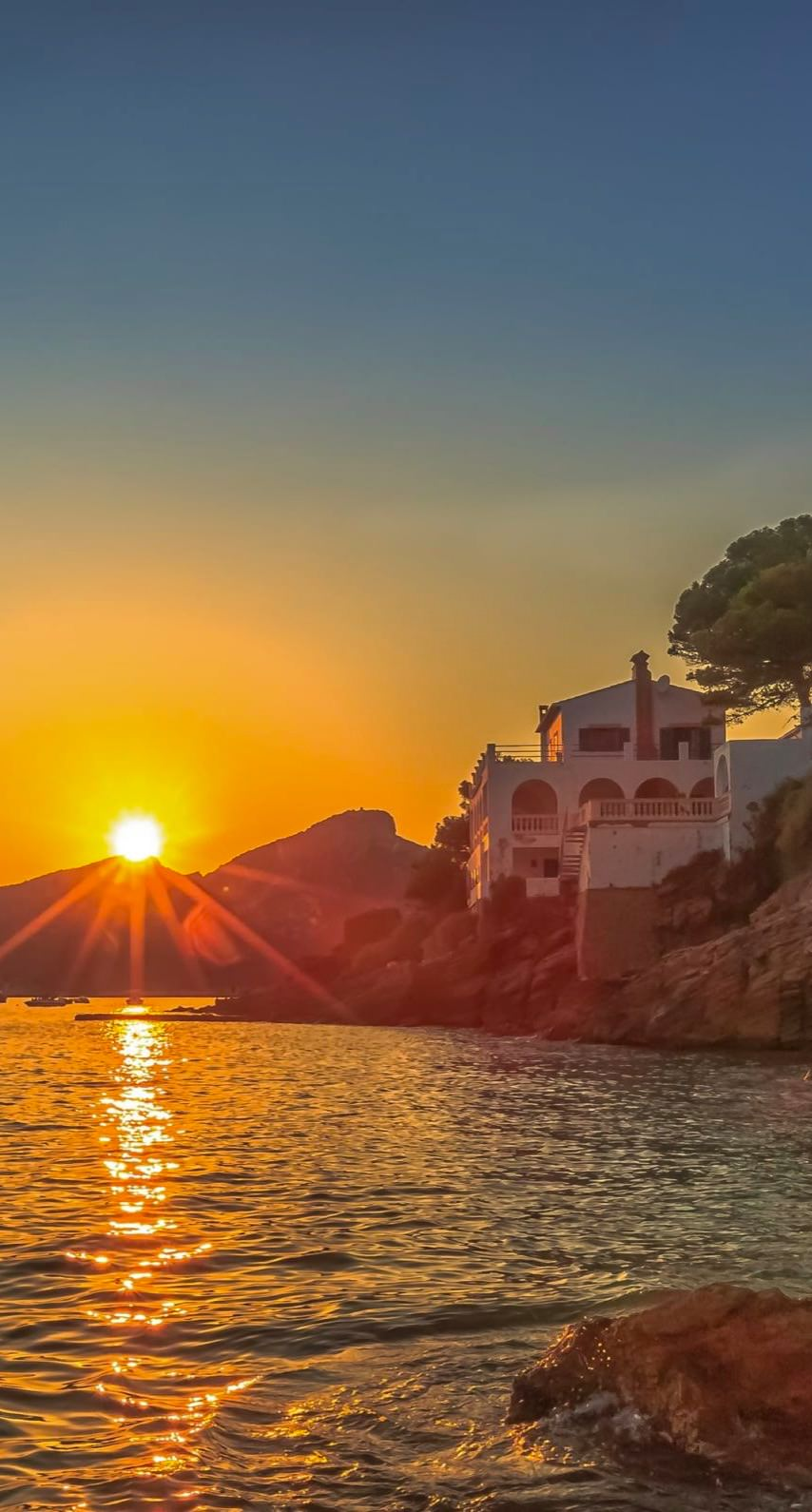 pemandangan laut matahari terbenam  wallpaper.sc iPhone6s